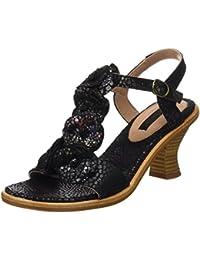 Neosens S982 Fantasy Floral Black Negreda, T-Strap Sandals Femme