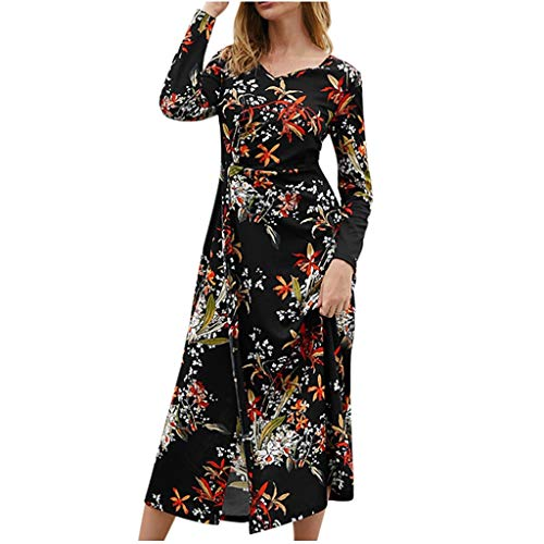 Yazidan Frauen Dress Sommerkleider Vintage Boho Maxikleid Beiläufiges Strandkleid Blumenkleid Abendkleid Floralen Druck Minikleid...