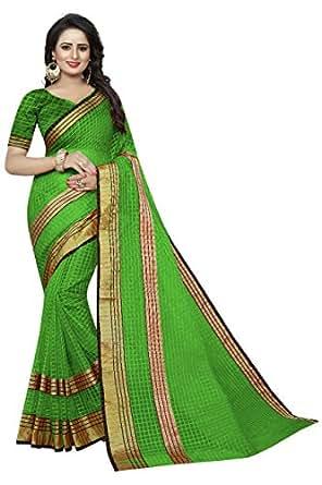 Desney Fashion Cotton Saree (BH-POLLY light green_Light Green_Free Size)