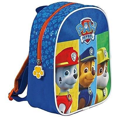 Perletti Paw Patrol 13523, Pequeña mochila de niño para jardín de infancia, Azul (Blue), 24 x 20 x 10 cm por Perletti