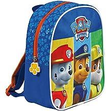 Perletti Paw Patrol 13523, Pequeña mochila de niño para jardín de infancia, Azul (Blue), 24 x 20 x 10 cm