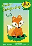 Fischer Fensterbild Probierbastelpackung FUCHS / Kinder Bastelpackung / 13 x 11 cm / zum Selberbasteln / Basteln mit Papier und Pappe