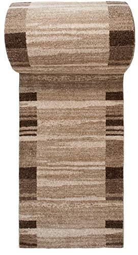 Tapiso rasta tappeto passatoia al metro salotto soggiorno moderno corridoio stanza da letto beige marrone a pelo corto 70 x 160 cm