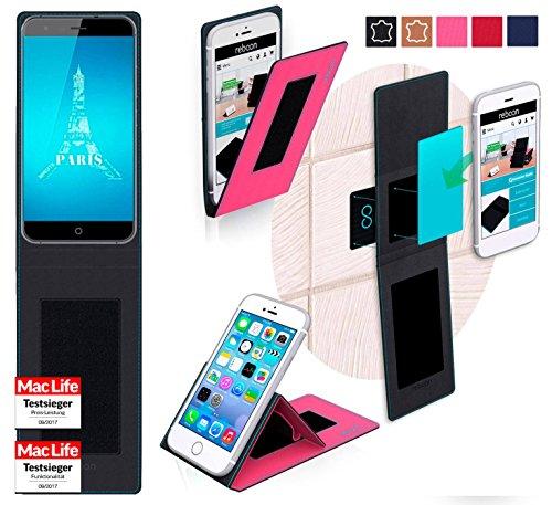 reboon Hülle für Ulefone Paris X Tasche Cover Case Bumper | Pink | Testsieger