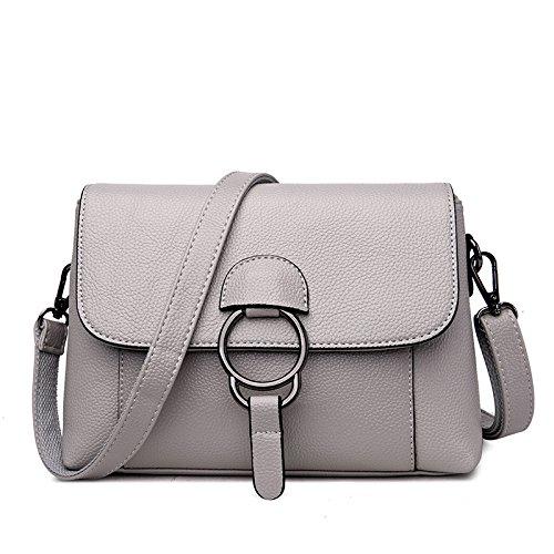 Mefly Die Neue Welle Der Weiche Tasche Einfache Umhängetasche Lady Square gray