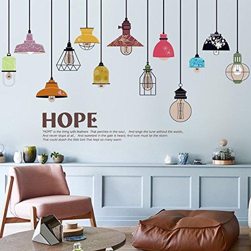 wandsticker4u-sticker-mural-13-pieces-design-lampe-suspension-effet-image-155-x-93-cm-foret-image-mu