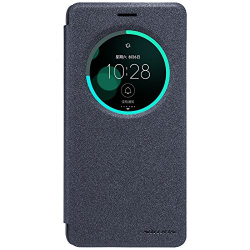 Asus Zenfone 3 Deluxe ZS570KL Case - IVSO Slim Flip Shell Case for Asus Zenfone 3 Deluxe ZS570KL 5.7 inch Smartphone (Slim Book Series - Black)