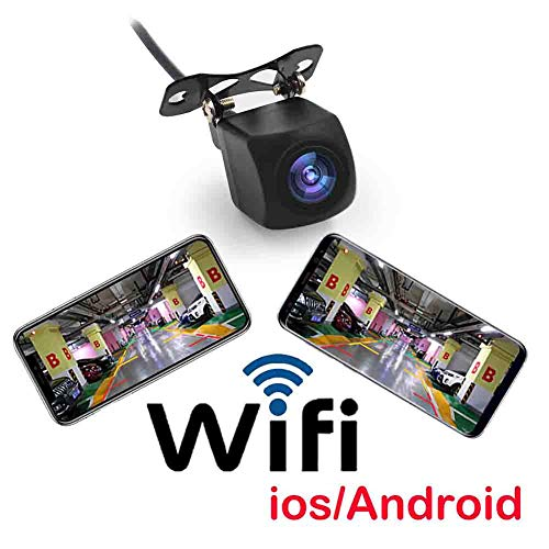 Beesclover - telecamera posteriore per auto, wifi, wireless, hd, visione notturna, 150 gradi, colore nero