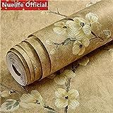JJHR Papier Peint Motif De Prune Chinoise Papier Peint Non Tissé Salon Chambre Enfants Chambre Étude TV Canapé Fond Papier Peint, D