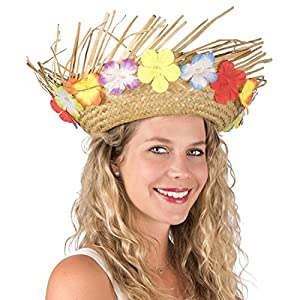 P-tit-payaso-95424-sombrero-paja-Hawaiano-adulto--Natural-con-flores-talla-nica