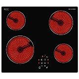 Glaskeramikkochfeld Ceran Glaskeramik autark Kochfeld Sensor Touch 4 Kochzonen