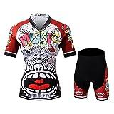 Thriller Rider Sports® Donna Love Music Sport e Tempo Libero Abbigliamento Ciclismo Magliette Manica Corta e Pantaloncini Combinazione Large