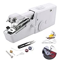 Portable Mini Sewing Machine Handheld Electric Sewing Machine Sewing Machine Quick Handy Stitch Tool for Fabric, Clothing, Kids Cloth Home Travel Use