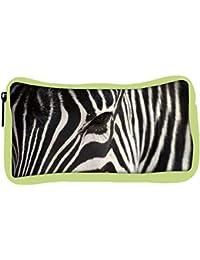Snoogg Eco Friendly Canvas Zebra Eye Designer Student Pen Pencil Case Coin Purse Pouch Cosmetic Makeup Bag
