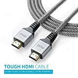 #8: Mivi 2 Mtr High Speed HDMI cable V2.0 - 24K Gold plated connectors - 28AWG Braided - Ethernet - Audio Return - Support 3D, 4K, 2160p, 1080p, ARC, HEC, HDCP - High-Speed 10.2 gbps / 340 MHz (Supports up to 240hz Refresh Rates and 48-Bit Deep Color) - Connects Xbox PlayStation PS3 PS4 PC Apple TV and more