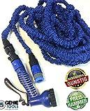 Flexi Schlauch | All Inclusiv Starter Set | flexibler Gartenschlauch mit viel Zubehör | BLAU | 22m- gedehnt (22m)