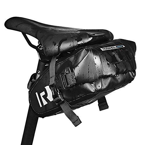Jhua die neueste Fahrrad-Sattel-Tasche Wasserdichtes Fahrrad-Sitz-Satz mit PVC-Netz-Klemmtuch-leichte u. Justierbare Sitz-Beutel-Schwarzes