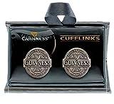 Guinness Label Cufflinks Antique Silver Colour
