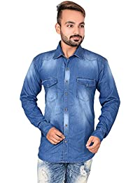 Blue Color Denim Stylish Shirt For Boy And Men By Mangal