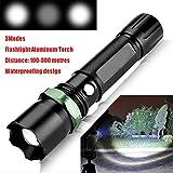 Taschenlampen,OHQ 5000Lumen 3Modes Polizei Q5 LED Taschenlampe Aluminium Taschenlampe (Schwarz)