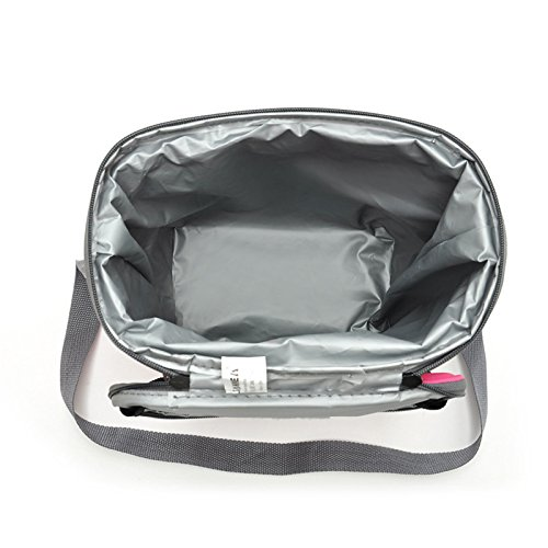 Rieovo 8.8l Portable borsa termica per il pranzo in nylon termico Lunchbox food, borsa da picnic Cooler Tote borse bolsa Almuerzo Navy