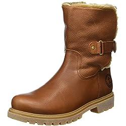 Panama Jack Felia B8 - Botas Antideslizantes de cuero mujer, color marrón(Cuero / Bark), talla 37