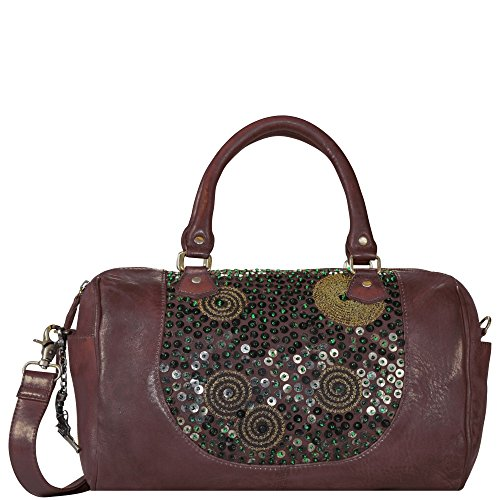 Billy the Kid Zari Sac à main cuir 36 cm burgundy