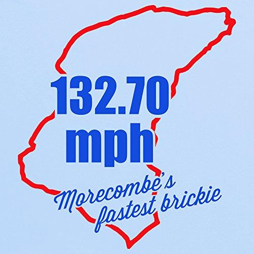 Morecambe's Fastest Brickie T-Shirt, Herren Himmelblau
