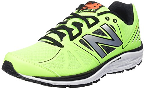 New Balance Uomo, Scarpa Tecnica, M770 Running Light Stability, Verde (Green/Black), 44