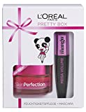 L'Oreal Paris Tagescreme und Mascara Set Skin Perfection plus Mega Volume Collagen Miss Manga Hautpflege Wimperntusche