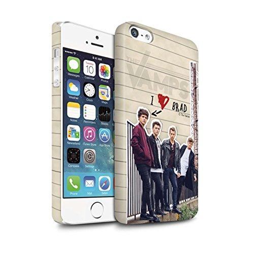 Officiel The Vamps Coque / Clipser Matte Etui pour Apple iPhone SE / Pack 5pcs Design / The Vamps Journal Secret Collection Brad