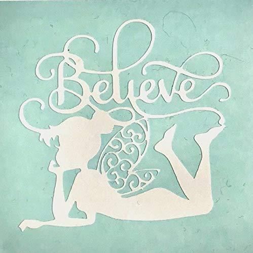Celycasy Vinyl-Aufkleber, Motiv Fee mit Believe, für Kaffeetasse und Autofenster, Laptop, Tablet, Aufkleber für Handy, Badezimmer, Spiegel, Mädchen Schlafzimmer