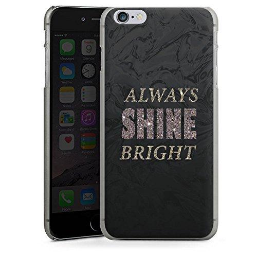 Apple iPhone X Silikon Hülle Case Schutzhülle Shine Glitzer Sprüche Hard Case anthrazit-klar