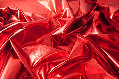 Hochwertiger glänzender Stoff (elastisch, reißt nicht bei Spannung / beim stretchen, hinterlässt keine Brüche, fließend, fällt schön, dennoch griffig): Lamé-Stoff, Glitzerstoff, Metallic, Metall-Stretch, Karnevalsstoff, Faschingsstoff (VE 1m) - Fließende Tanz Kostüm