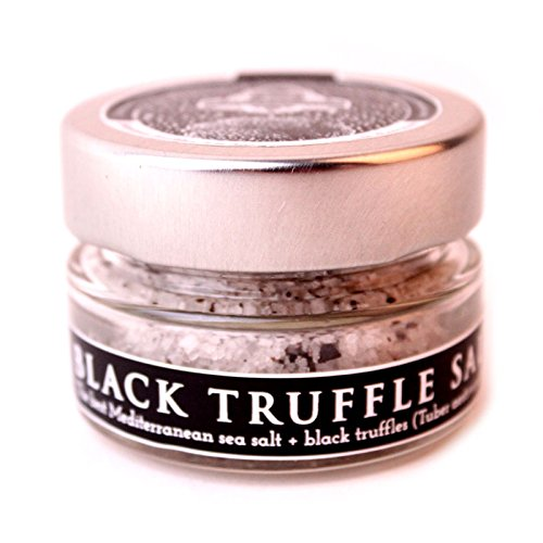 Black Truffle Salt | 1.4 Oz/ 40 gr Glass Jar | InterGourmandise | Vegan, Vegetarian, Kosher & Gluten Free