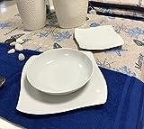 Offerta servizio piatti per 12 persone 36 pezzi in fine porcellana bianca forma quadrata mod.vanity/nora