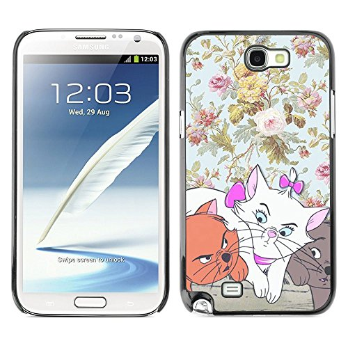 Plastic Shell Protective Case Cover    Samsung Galaxy Note 2 N7100    Wallpaper Cartoon Cat @XPTECH (Samsung Galaxy Stellar Hard Case)