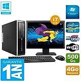 HP PC Compaq Pro 6300 SFF I7-3770 4Go 500Go Graveur DVD WiFi W7 Ecran 17'