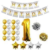 Set Palloncini 1° Compleanno da Belle Vous   Questo set di palloncini per compleanno trasformeranno una normale festa di compleanno in quella del secolo; con ben 24 pezzi potrai essere sicuro di organizzare l'evento più memorabile dell'anno!...