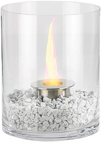 *Carlo Milano Tisch Ethanol Ofen: Glas-Dekofeuer*