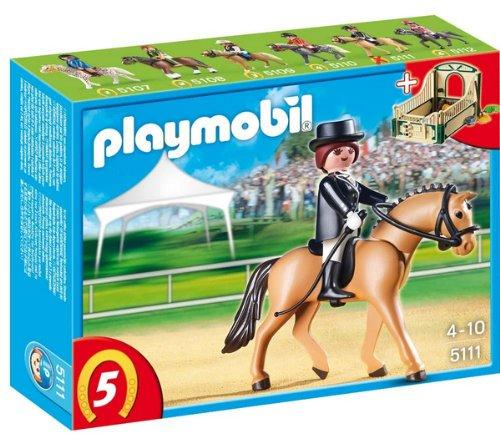 Playmobil Dressage Horse with Stall Multicolor - Figuras de juguete para niños (Multicolor)