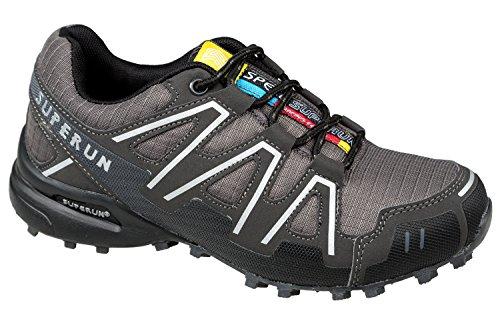 Gibra® Schuhexpress, Scarpe sportive leggere e comode, Grigio scuro, 36–41 Grigio scuro