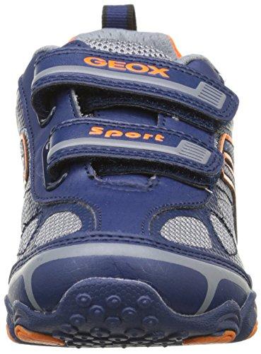 Geox Jr Tornado A, Baskets Basses Garçon Bleu (C0659)
