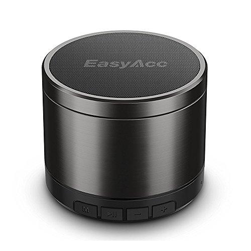 EasyAcc Mini 2 Portabler 4.1 Bluetooth Lautsprecher mit 5W Treiber, Verbesserte Bassleistung, 10 std. Spielzeit, FM Radio Schwarz (Bluetooth-mini-lautsprecher)
