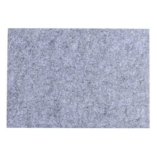 Filzgleiter selbstklebend für Möbel Füße quadratisch, tankerstreet Filz Möbel Pads rutschfest, Holz Boden Protektor Pads Mats für Möbel Teppich Sofas Betten Stühle Tisch Füße frei Schnitt, schwarz grau (Schwarz Und Grau-schnitt-sofa)