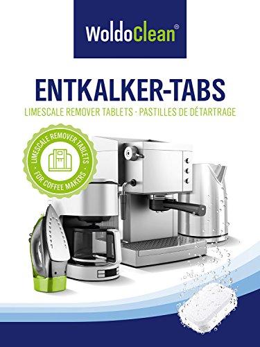 WoldoClean 50x Entkalker-Tabletten Entkalkertabs für Kaffeevollautomaten Kaffeemaschinen und Wasserkocher - 6