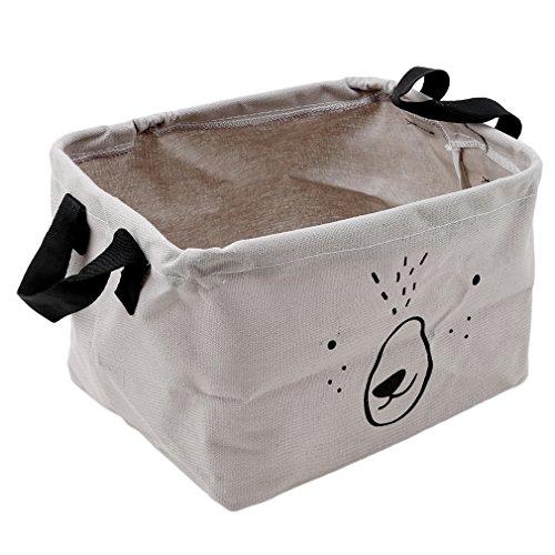 HENGSONG Cartoon Praktische Aufbewahrungsbox Korb Kosmetik Koffer Make-up Tasche Spielzeug Ablagebox Desktop Organizer für Haus Kinderzimmer Büro Aufbewahrung (Grau)