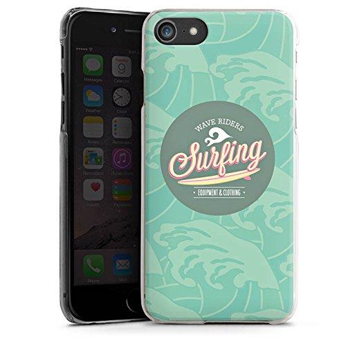 Apple iPhone X Silikon Hülle Case Schutzhülle Surfen Sommer Welle Hard Case transparent