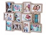 Fotogalerie Bilderrahmen Bildergalerie Fotocollage vers. Größen ( Typ 1 - 12 Fotos Wandgalerierahmen )