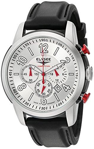 Elysee 80523S - Reloj de pulsera hombre, Silicona, color Negro